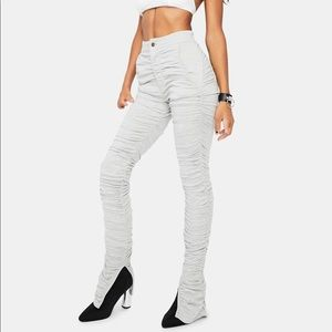 Dolls Kill NEW High-Waisted Ruched Split Seam Pant